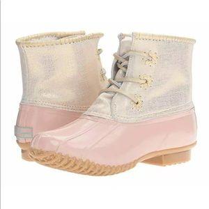 Jack Rogers Waterproof Chloe Blush Pink Boots 6